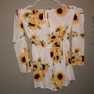 ZAFUL Sunflower Romper